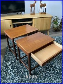 Vintage Nest Of Two Tables Retro Mid Century Teak 1950s 1960s