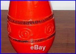 Vintage ORANGE BITOSSI / GERMAN style table LAMP BASE ONLY Mid Century