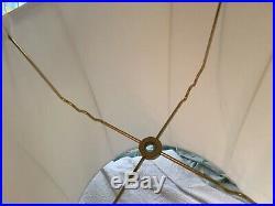 Vintage Pair Silk Drum table Lamp Shades Hollywood Regency retro mid century