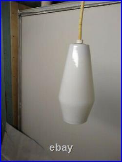 Vintage Pendant light mid century modern pop mod retro real deal glass