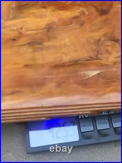 Vintage Phenolic Amber Bakelite Catalin Desk Item Not Door Drawer Handle 425 G
