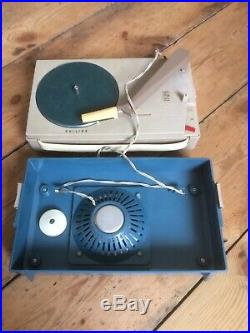 Vintage Philips Portable Record Player AG4000 Retro Mid Century In Original Bag