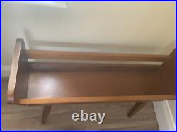 Vintage Plant Stand Wooden Mid Century 1950s Tapered Legs