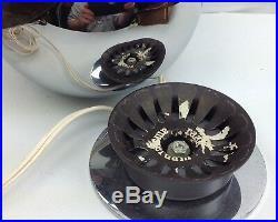 Vintage RAAK 70s Chrome Eyeball Space Desk Table Lamp Retro Mid-Century Light