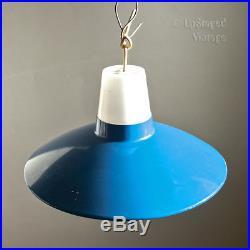 Vintage Retro 1960s/70s Mid Century Bright Royal Blue Light Fitting FREE UK P&P
