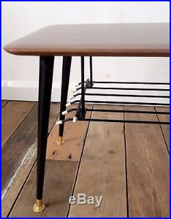 Vintage Retro 50s 60s Mid Century Atomic Era Dansette Formica Coffee Table