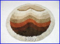 Vintage Retro Abstract DESSO Shag pile Floor Rug Carpet 60s 70s Op Art design