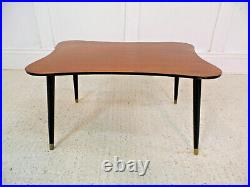 Vintage Retro Abstract form table Mahogany tapering legs 50s 60s Midcentury