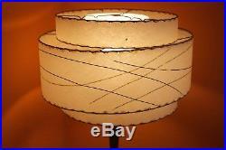 Vintage Retro Atomic 1950s fibreglass Lampshade Lamp stand Midcentury Rockabilly