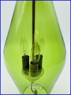 Vintage Retro Atomic Green Glass Hanging Lamp Ceiling Light Mid century Modern