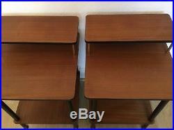 Vintage, Retro Bedside Tables. Mid Century. Pair Bedside Cabinets