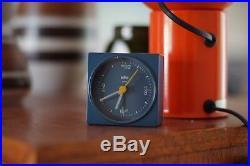 Vintage Retro Braun Mini clock, Mid Century, Rare, Very Good Condition, Mint
