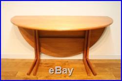 Vintage Retro DANISH TEAK 60S DROPLEAF DINING TABLE Mid Century Design Scandi