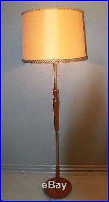 Vintage Retro Danish Teak and Brass Floor Lamp 1960s/70s Mid Century