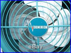Vintage Retro Dominion Art Deco Aqua Table Stand Torpedo Mid-Century Modern