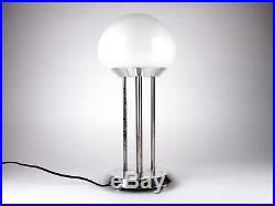Vintage Retro Glass Lamp White Chrome Table Desk lamp Mid century modern