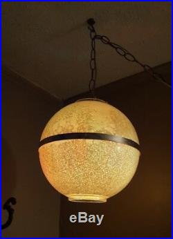 Vintage Retro Hanging Swag Chandelier Globe Light Lamp MID Century