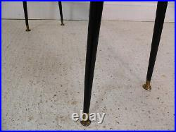 Vintage Retro Italian telephone hall table dansette tapering legs 50s 60s chic