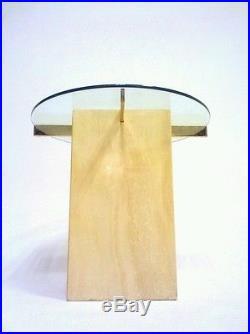 Vintage Retro Leon Rosen Milo Baughman Atomic Sputnik Danish Table Glass Brass