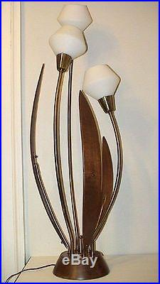 Vintage Retro Majestic Tulip Table Lamp Atomic Eames Mid
