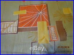 Vintage Retro MID Century Curtains Modern Barkcloth Atomic Camper Trailer Fabric