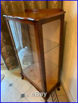 Vintage Retro Mid Century 1950s Glass China Cabinet, drink Unit Upcycle Project