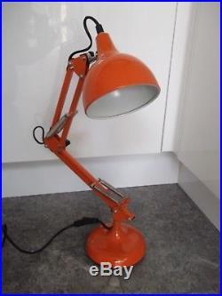 Vintage Retro Mid Century Anglepoise Orange Metal Desk Light Lamp