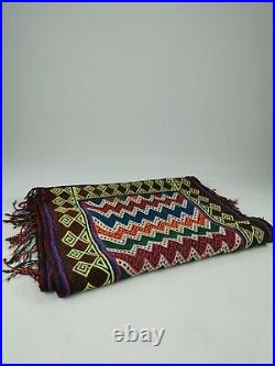 Vintage Retro Mid Century Aztec Brightly Coloured Hand Knotted Hall Runner Rug