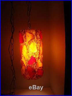 Vintage Retro Mid-Century Brutalist Lucite/Acrylic Swag Lamp/Light