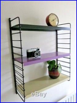 Vintage Retro Mid Century Coloured String Shelving Unit Dutch Modular Shelves