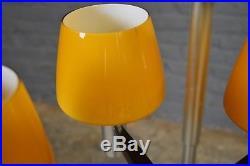 Vintage Retro Mid Century Conelight Ltd Amber Glass Aluminium Ceiling Light