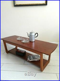 Vintage Retro Mid Century Danish Two Tier Teak Coffee Table