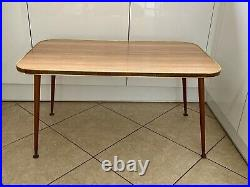 Vintage Retro Mid Century Formica Coffee Table Dansette Tapered Teak Legs MCM