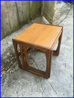 Vintage Retro Mid Century G Plan Nest of 3 Wooden Tables Side Coffee