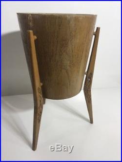 Vintage Retro Mid Century Marquis Ice Bucket-planter-boomerang-teak-60s Aus made