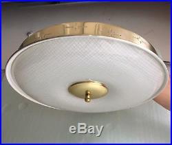 Vintage Retro Mid Century Modern 1960s Flush Light Fixture Starburst Design