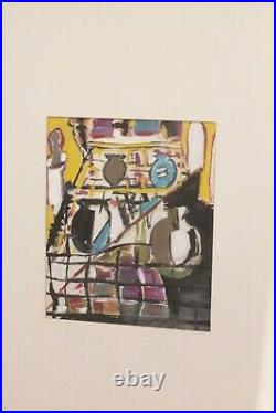 Vintage Retro Mid Century Modern Abstract Framed Painting