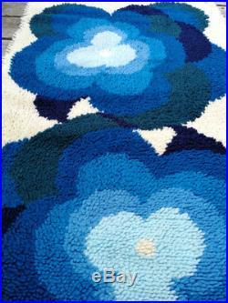 Vintage Retro Mid Century Modern Pop Art Rya Style Carpet Rug Eames Panton Era