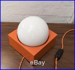 Vintage Retro Mid Century Orange Designer Lamp Light Modern 60s