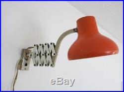 Vintage Retro Mid Century Orange Scissor Lamp 20th Century Wall Lamp