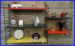 Vintage Retro Mid Century Orginal Industrial Dutch Tomado Bookshelf Rietveld Era