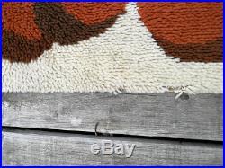 Vintage Retro Mid Century Pop Art Rya Style Carpet Rug By Desso Eames Panton era