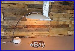 Vintage Retro Mid Century Space Age Italian White Desk Lamp Restored