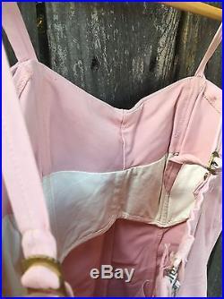 Vintage Retro Pink Bathing Suit Swim Beach Ocean Wear Rockabilly Mid Century