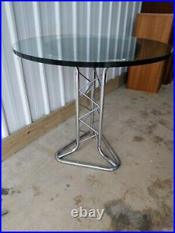 Vintage Retro Rare MID Century Rare Tubular Chrome Pylon Dining Kitchen Table