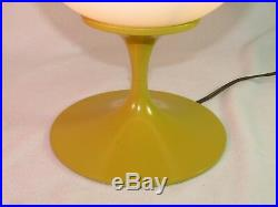 Vintage Retro Stemlite Bill Curry Mid Century Modern Lamp Bubble Frosted Orb