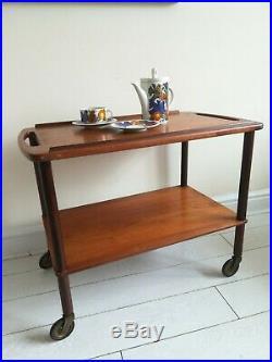 Vintage Retro Teak Danish Tea Trolley Mid Century