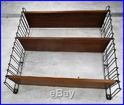 Vintage Retro Tomado Mid Century Design Wall Shelving Unit Retro Shelf Teak HTF