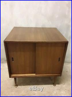 Vintage/Retro Vinyl Record Storage Cabinet Small Size Mid Century