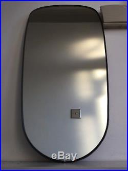 Vintage Retro Wall Hall Mirror Mid Century 1960s 70s Black Gold Rim 60x30cm m70